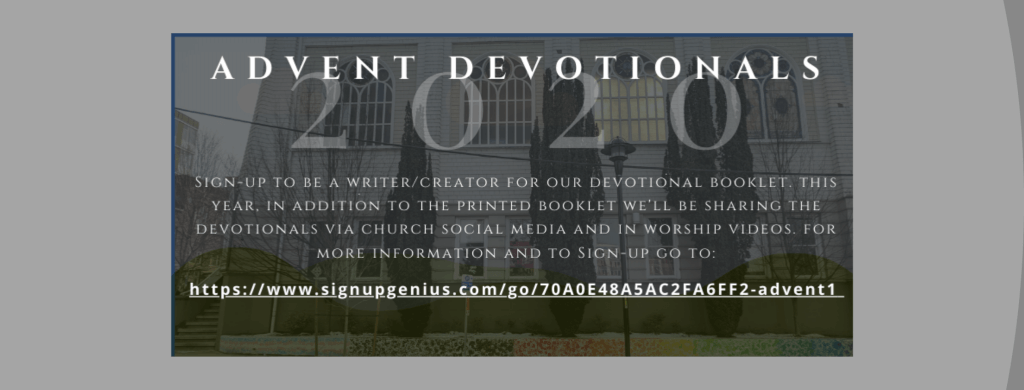 Invitation to Write Advent Devotional